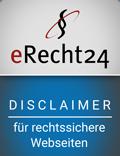 Disclaimersiegel E-Recht 24
