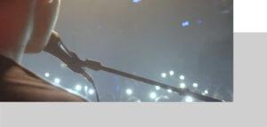 Auftritt auf Bühne